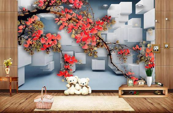 Scenery wallpaper for bedroom revista esencia y espacio for 3d wallpaper for kitchen walls