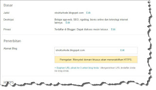 seting dasar blogspot