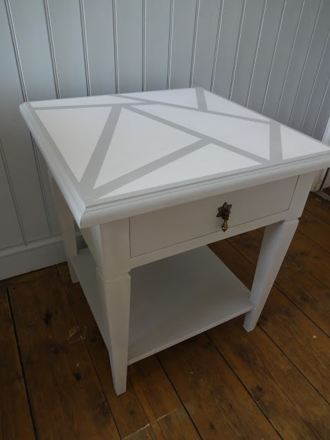 自己动手做painted geometric side table