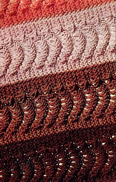 The Vintage Pattern Files - Free 1960s Afghan Knitting Pattern
