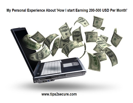 How I am Earning 500 USD Per Month