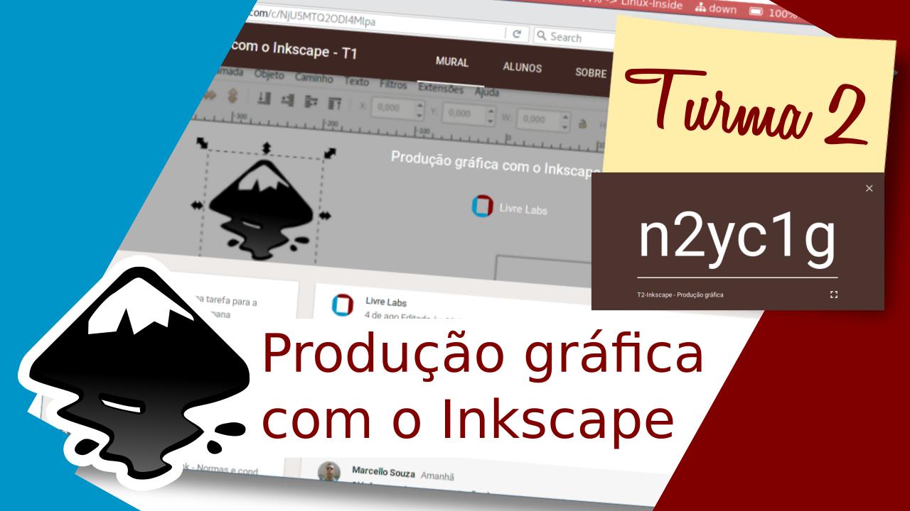 Turma 2 do curso de produção gráfica com o Inkscape