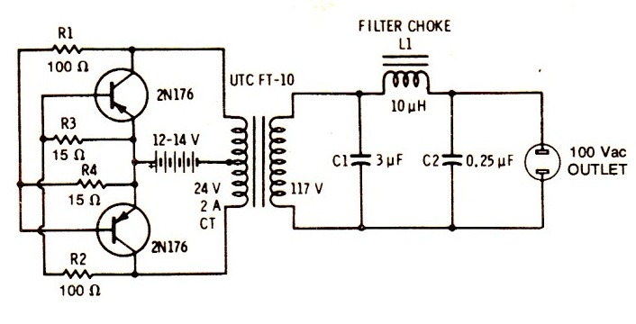 circuit diagram knowledge  how to make a simple inverter