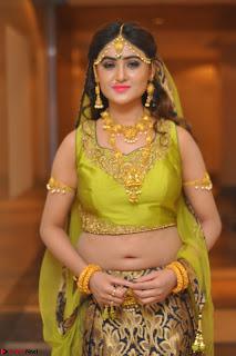 Sony Charishta in Green Choli Ghagra Transparent Chunni Ethnic Wear March 2017 054.JPG