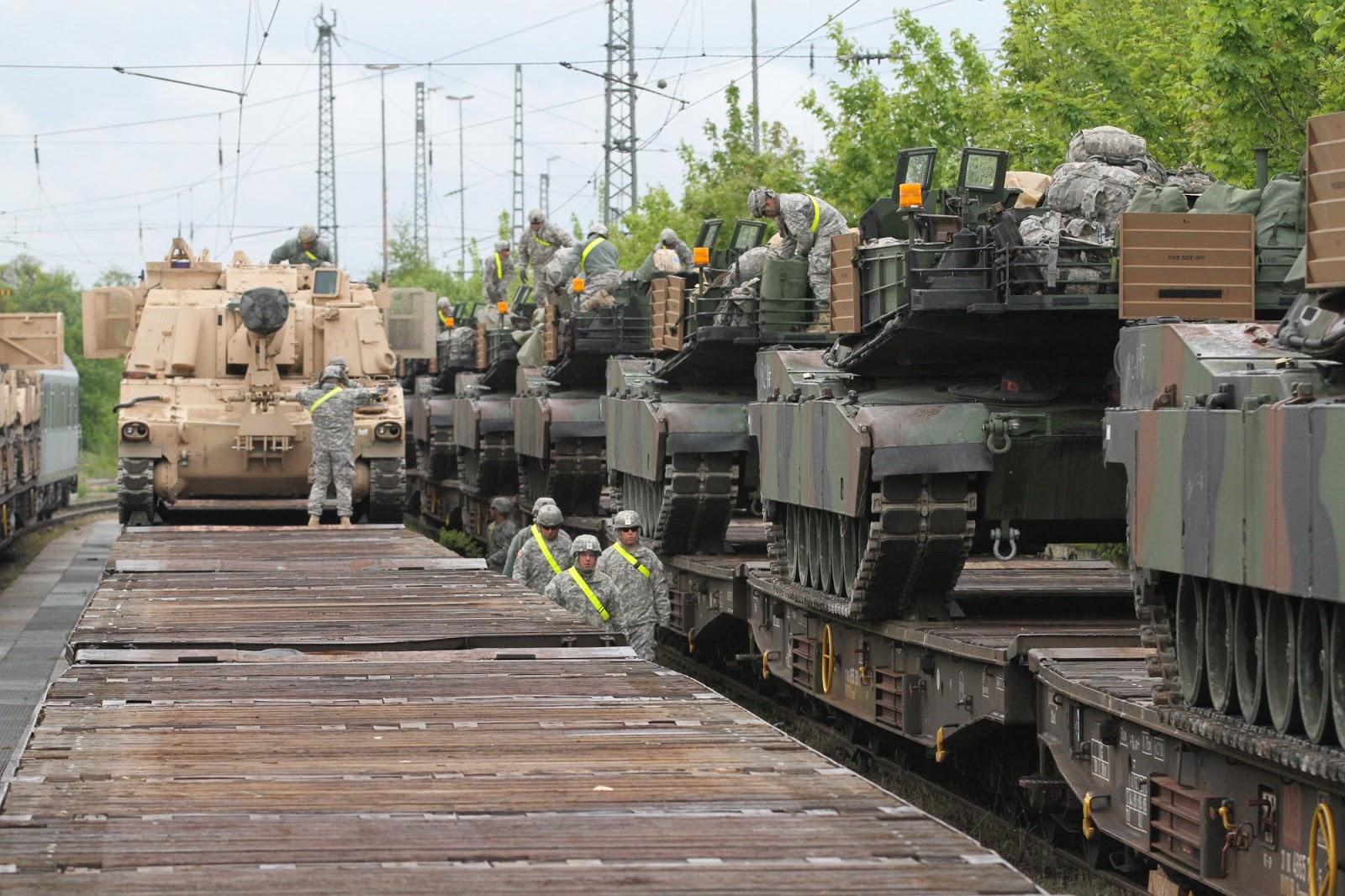 Lebarkan Sayap, Untuk Kali Pertama AS Kerahkan Tank ke Georgia