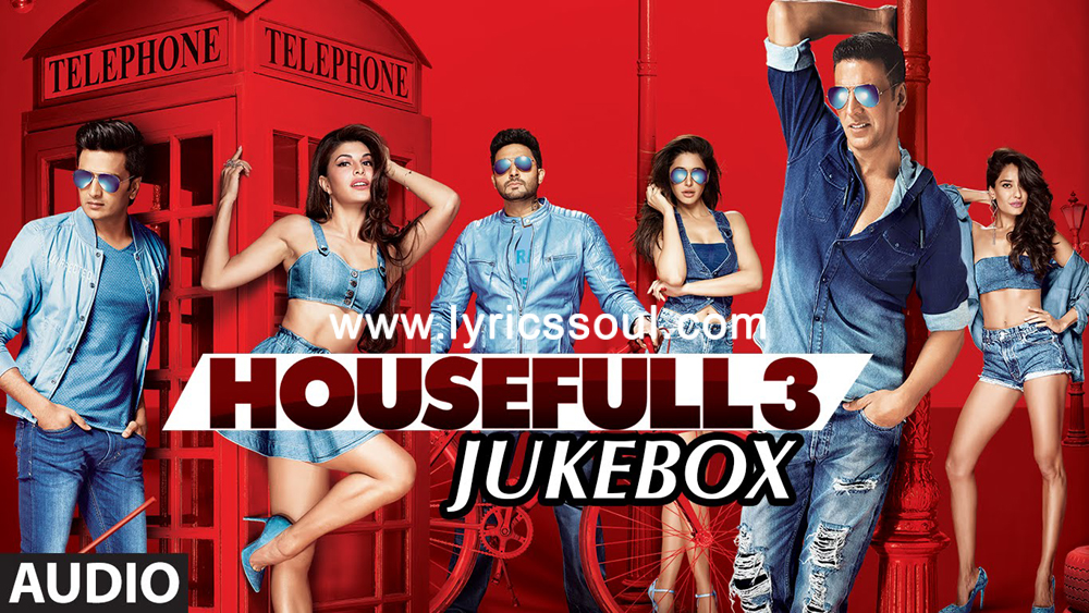 The Fake Ishq lyrics from 'Housefull 3', The song has been sung by Kailash Kher, Nakash Aziz, Altamash Faridi. featuring Akshay Kumar, Abhishek Bachchan, Riteish Deshmukh, Jacqueline Fernandez. The music has been composed by Tanishk Bagchi, , . The lyrics of Fake Ishq has been penned by Arafat Mehmood, Sajid-Farhad, .