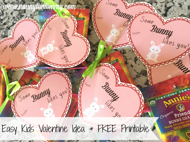 Non-Candy Kids Valentine Idea + FREE Printable
