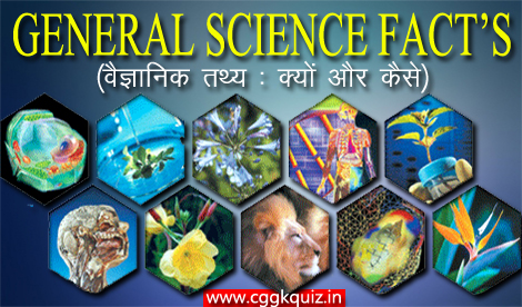 its general science fact q&a gk quiz in hindi :what, why and how | theory, rules and laws of light, liquid, force, reflection and convex, concave mirrors, gravity, surface tension, wavelength, science game for upsc examinations | biology gk questions with answers quiz-वैज्ञानिक तथ्य