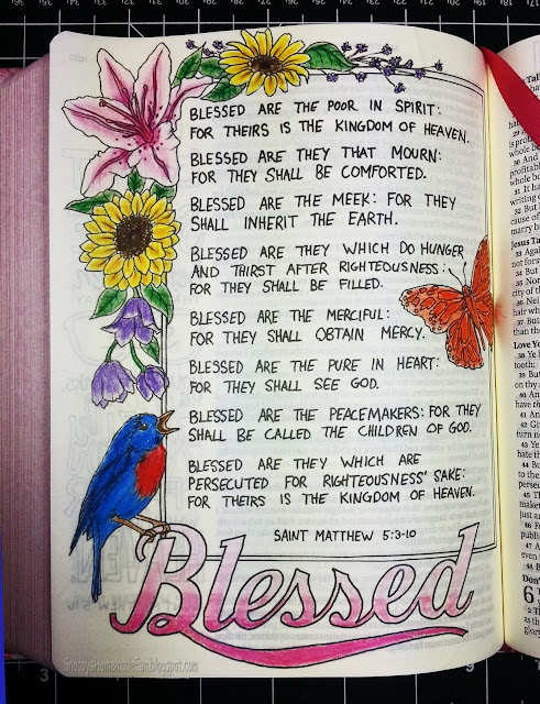 BLESSED ~ BIBLE JOURNALING PAGE