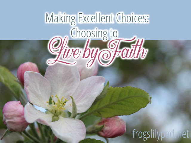 Making Excellent Choices: Choosing to Live by Faith #choices #faith #spiritualgrowth