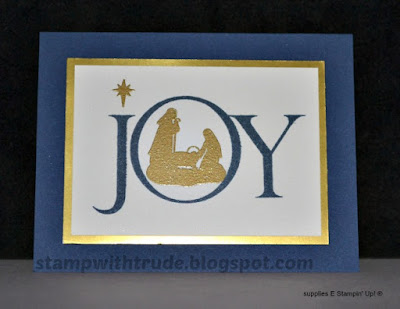 Joyful Nativity, Stampin' Up!, Christmas card, Stamp with Trude, SU, CAS