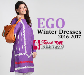 70bf95c6157f Ego Winter Dresses 2016-2017 For Girls | Pakistani Casual Dresses ...