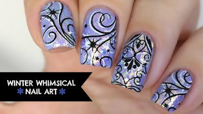 winter nail art tutorial