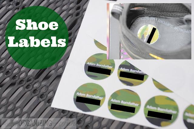 Labeling Shoes :: OrganizingMadeFun.com