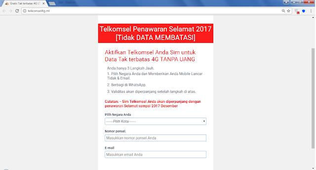 Awas, Jangan Terjebak Promosi Gratis Kuota 50 GB Telkomsel 4G.