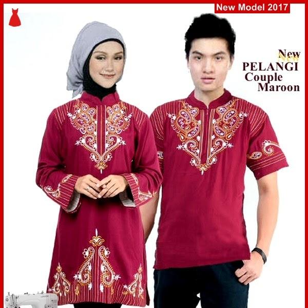 MSF0108 Model Couple Batik Vani Embroidery Pelangi