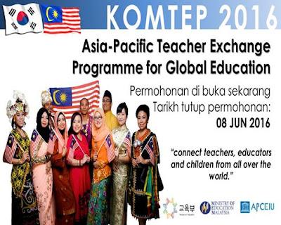 Tawaran Mengikuti Program Pertukaran Guru Malaysia - Korea 2016