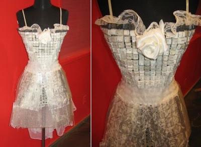 Vestidos de novia luminoso y alocado.