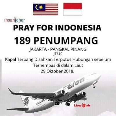 PRAY FOR JT610 INDONESIA