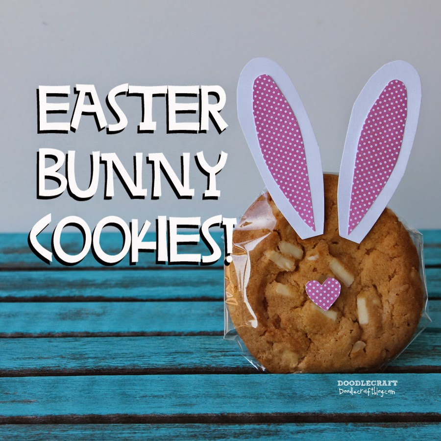 Doodlecraft easter bunny cookies givebakery these are perfect and easy there are so many times i feel like i should do something for someone but homemade cookies would take too long negle Image collections