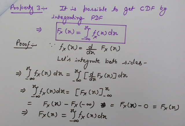 PDF Property 3 With Proof, Probability density function properties