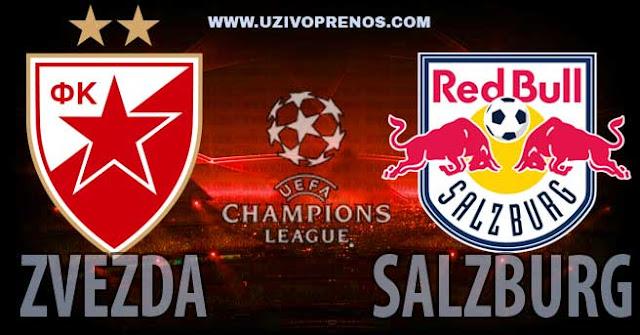 Liga šampiona: Crvena zvezda - RED BULL Salzburg uživo prenos