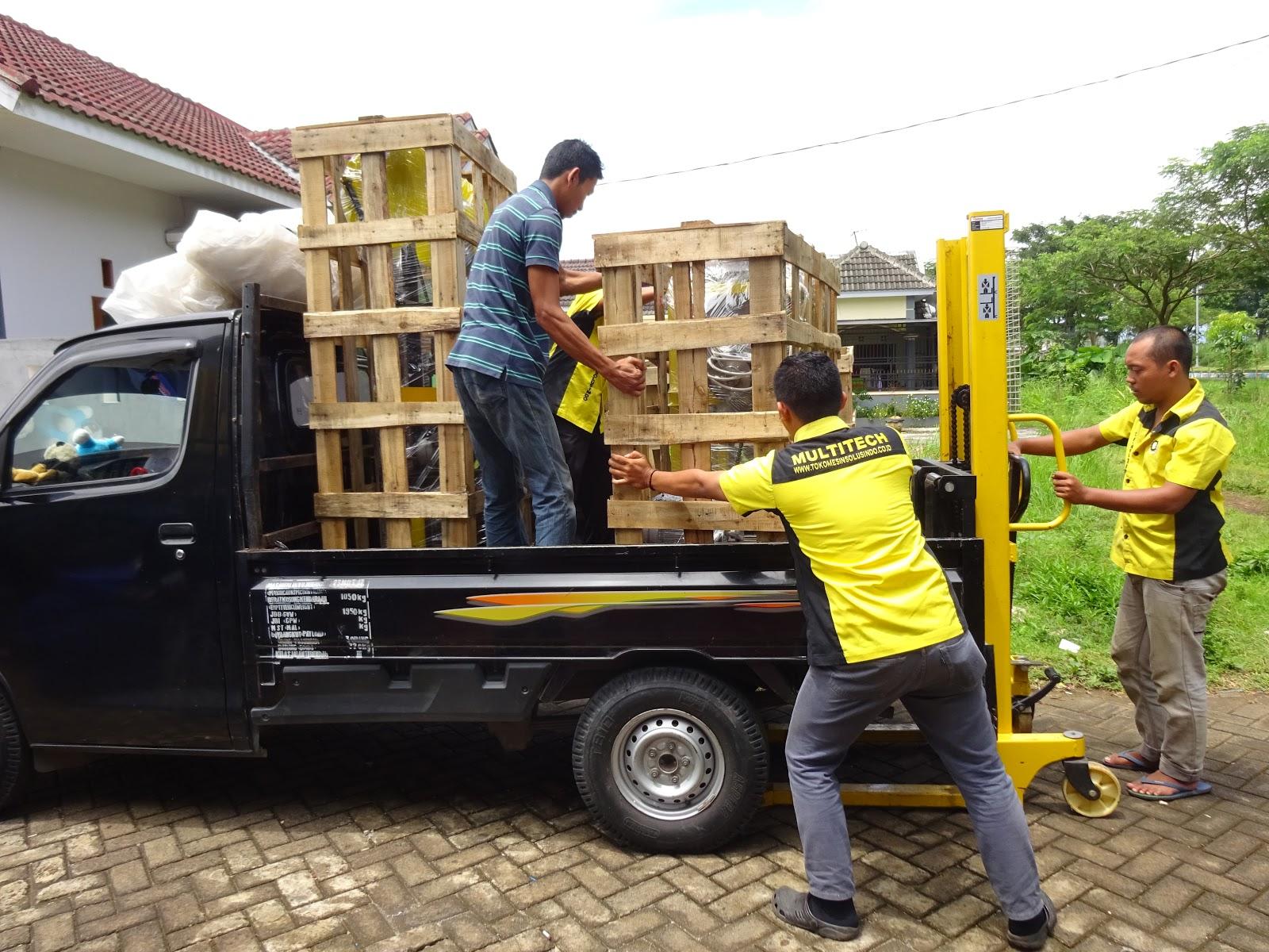 Pengiriman Mesin Ayakan Baglog Jamur Dan Mixer Abon