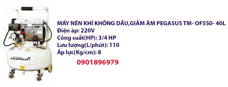 MÁY NÉN KHÍ KHÔNG DẦU,GIẢM ÂM PEGASUS TM- OF550- 40L