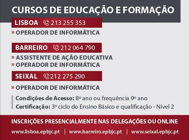 Cursos CEF Nível 2 para tirar o 9º ano – Lisboa, Barreiro e Seixal