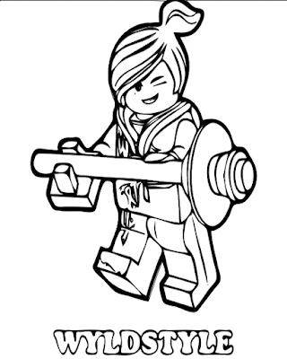 Gambar Mewarnai Lego - 14