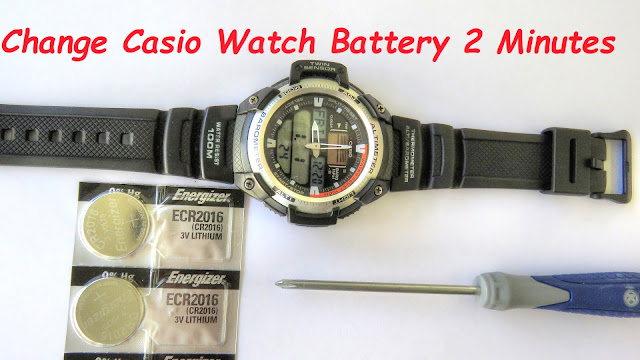 How To Change Casio Watch Batteries