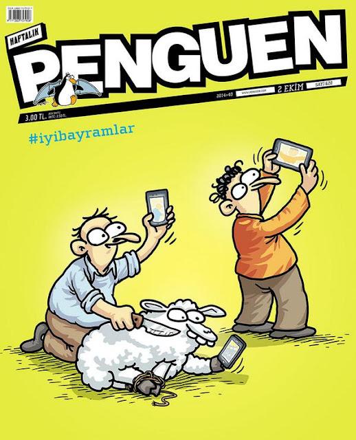 Penguen Kurban Bayramı Kapak Karikatürü