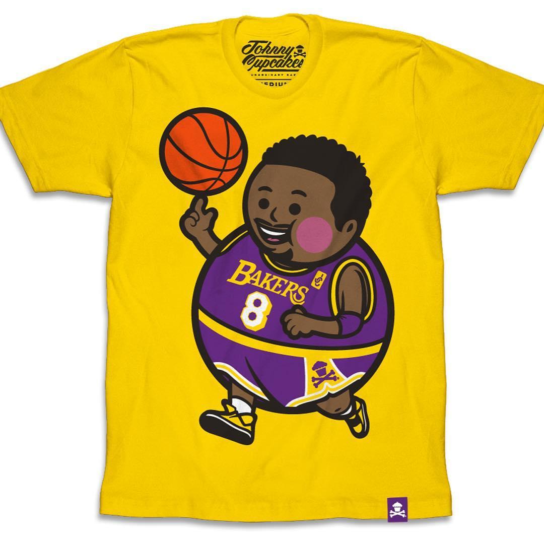 "Kobe Bryant ""Black Mamba Big Kid"" LA Lakers T-Shirt by Johnny Cupcakes aeb379a43"