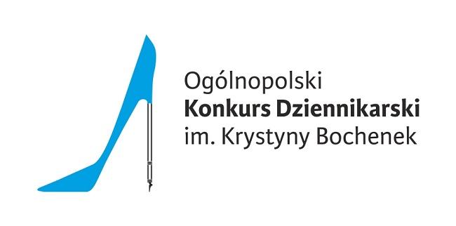 Logo Ogólnopolskiego Konkursu Dziennikarskiego im. Krystyny Bochenek