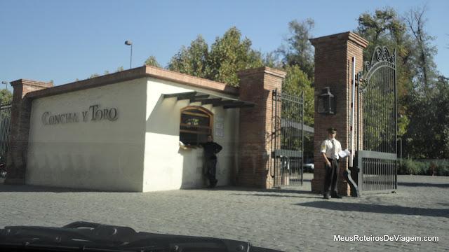 Portão de entrada da Concha y Toro