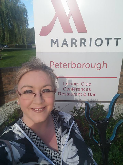 Julie outside the Marriott in Lynchwood ready for the litter pick