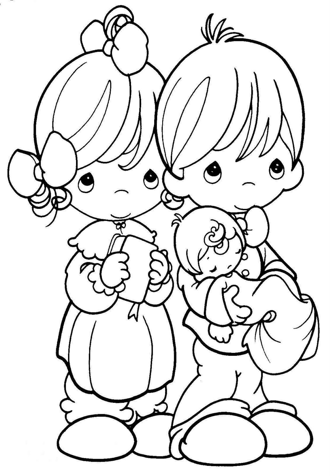 precious moments for love coloring pages >> disney