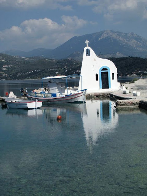 Church of Saint Nicholas Vouligmeni Lake Loutraki, Greece