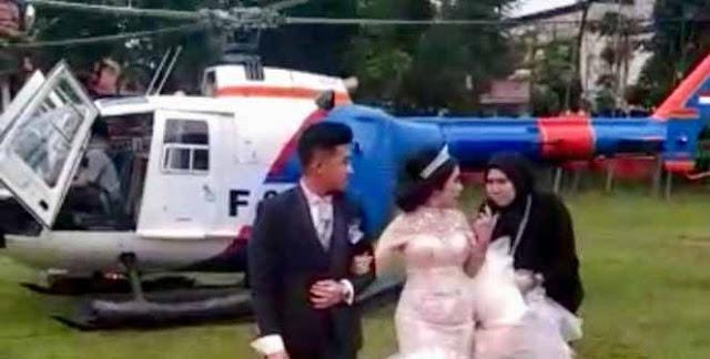 Polisi Dalami Pratik Sewa Helikopter Angkut Pengantin di Siantar