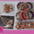 Gota jewellery Orange & Purple