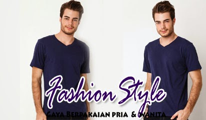 Model Baju Kaos Pria Lengan Pendek T-shirt V Neck SS Basic by Atypical Basic