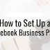 How Do I Set Up A Business Facebook Page