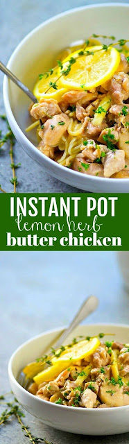 INSTANT POT LEMON HERB BUTTER CHICKEN