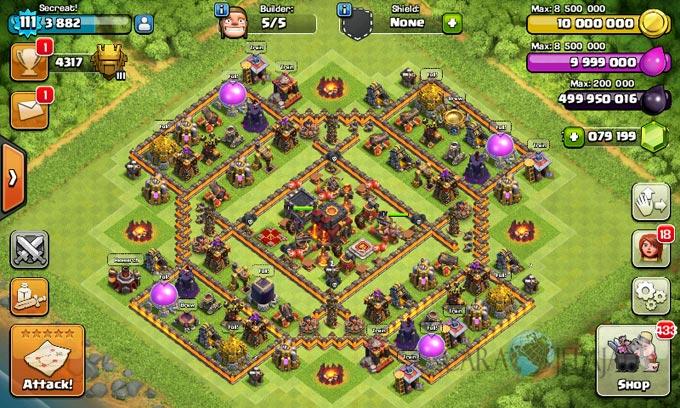 Desain Base War Clash Of Clans Town Hall 10 Update 2017 ...