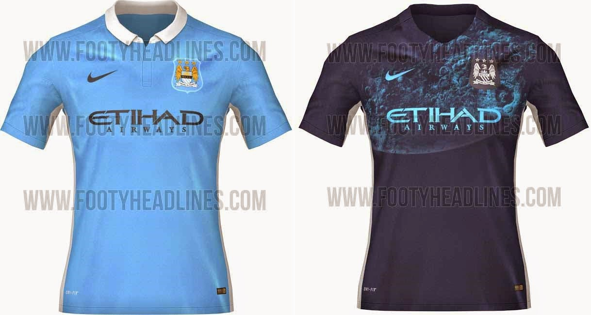 69163d85658 Manchester City 2015-16 Kits Leaked: Have you seen new kits of Manchester  City for 2014-15 season? The all new home and away jersey of Man City have  been ...