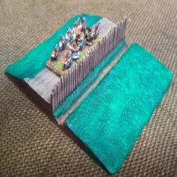 TF230 Roman/darkage Ditch and palisade 80mm section.