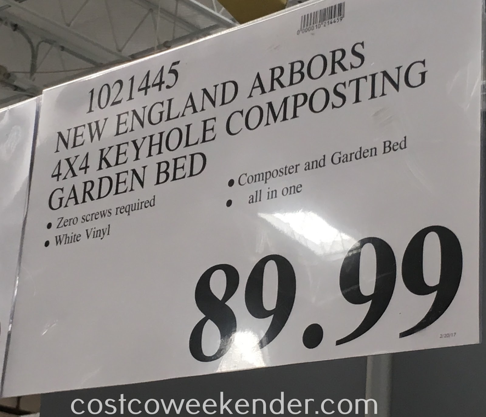 Costco 1021445 - Deal for the New England Arbors Keyhole Garden & Composter at Costco