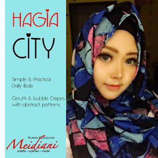 Jilbab Instant Motif Hagia City