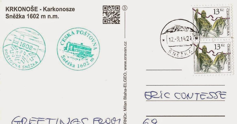 Blog timbr de ma philat lie carte post e du plus haut - Office de tourisme republique tcheque ...