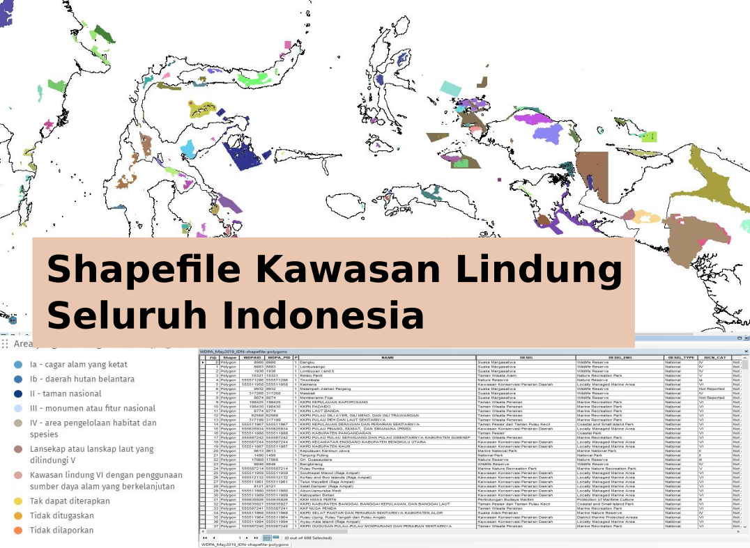 Shapefile Kawasan Lindung Seluruh Indonesia